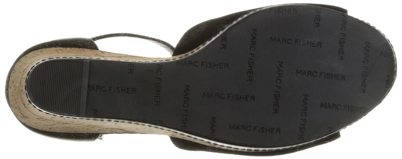 Marc Fisher Frauen Hillory Leder Offener Zeh Leger Leder Hillory Platform Sandalen Schwarz 3fd8b3