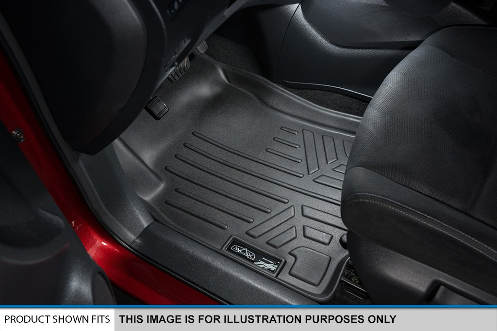 MAX LINER A0325/B0325/C0325 Custom Fit Floor Mats 3 Row Liner Set Black for 2018-2019 Honda Odyssey - All Models by MAX LINER (Image #2)