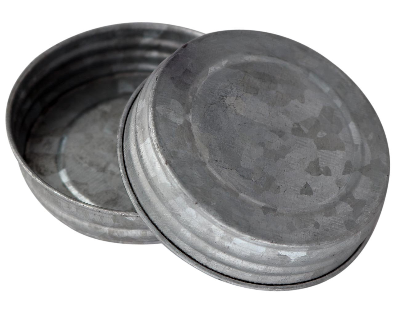 Galvanized Vintage Reproduction Lids for Mason, Ball, Canning Jars (4 Pack, Wide Mouth)