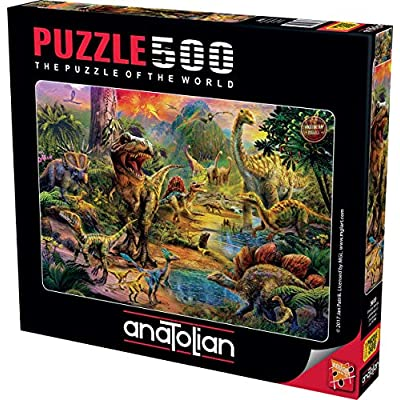 Anatolian ANA3603 Puzzle: 500 Landscape of Dinosaurs, Brown/A: Toys & Games
