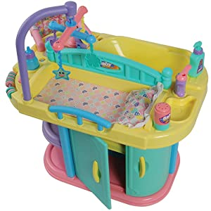 """Constructive Playthings 22"""" W. x 18"""" D. x 19"""" H. Baby Doll Changing Table and Care Center Made from Heavy Duty Plastic for Ages 3 Years and Up"""