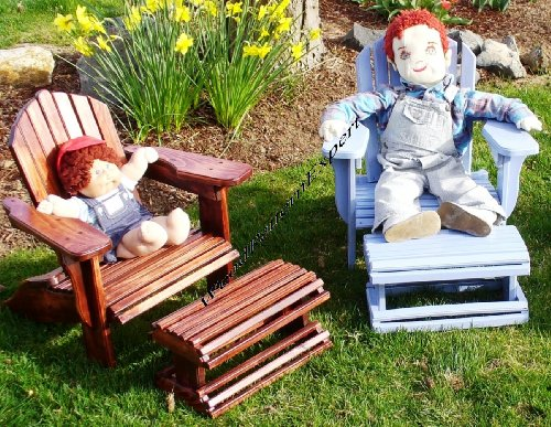 (CHILD SIZE ADIRONDACK CHAIR W/ FOOT REST Paper Plans SO EASY BEGINNERS LOOK LIKE EXPERTS Build Your Own Using This Step By Step DIY Patterns by WoodPatternExpert)