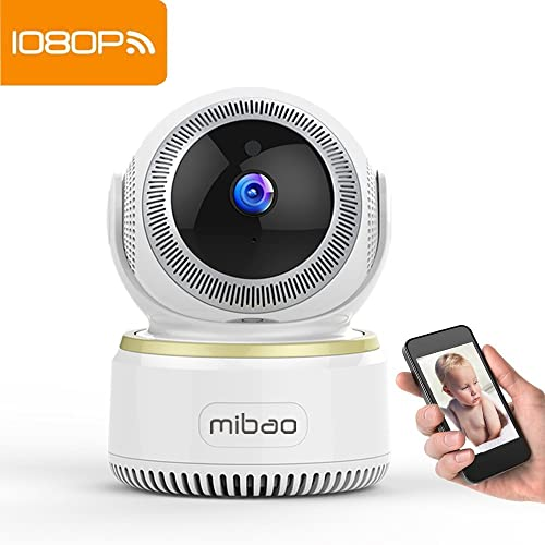 Mibao Security Camera IP Camera 1080P WiFi Surveillance Systemwith HD Night Vision,Video Recording,Remote Motion Detection,Email Alarm,Two-Way Audio,Pan/Tilt,Monitor for Baby/Elder/Pet