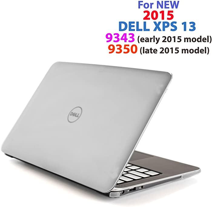 "Clear iPearl mCover Hard Shell Case for 13.3"" Dell XPS 13 9343/9350 / 9360 Models (not Fitting Older L321X / L322X / 9333 and Newer 9365 2-in-1 Models) Ultrabook Laptop - Clear"