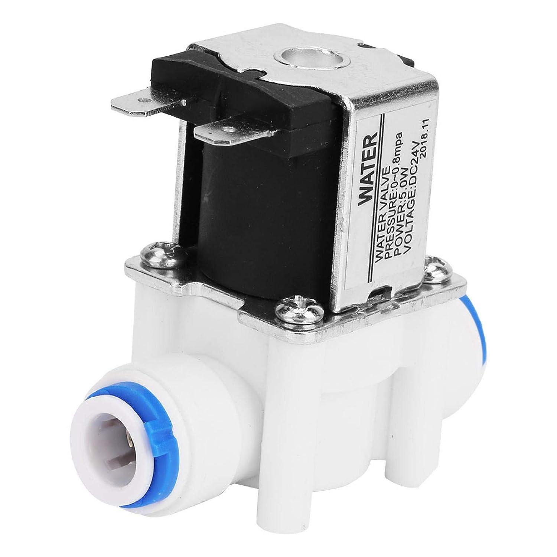 Válvula de solenoide de válvula eléctrica de plástico, válvula purificadora de agua, válvula de entrada de agua para purificador de agua 24VDC N/C