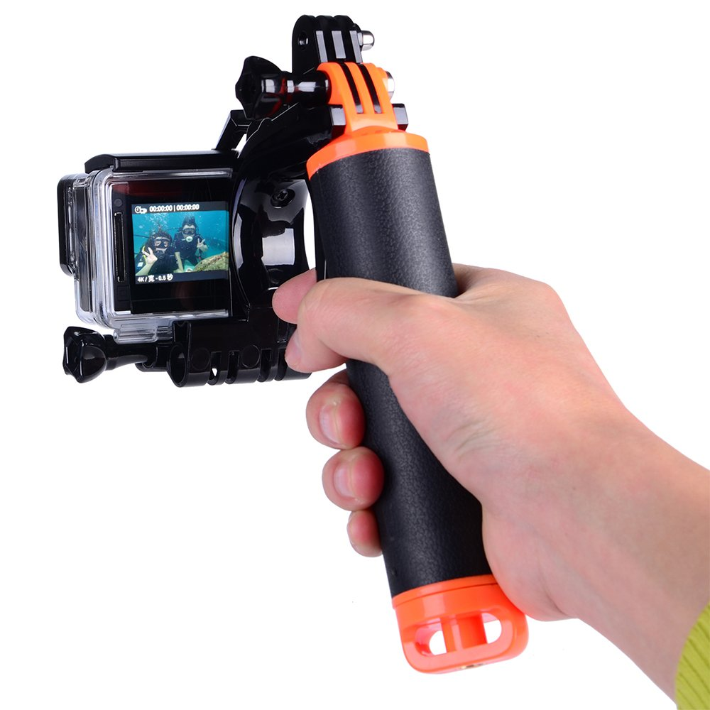 Suptig Trigger Waterproof Pistol Shutter Trigger Kit Floating Hand Grip for GoPro Hero 6 Black Gopro Hero 5 Hero 4 Hero 3+ Hero 3 Hero+LCD Yi Action Yi 4k Yi 4K+ Action SJCAM Cameras