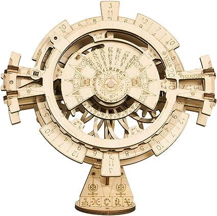 ROKR 3D Wooden Perpetual Calendar Puzzle,Mechanical Gears Perpetual Calendar
