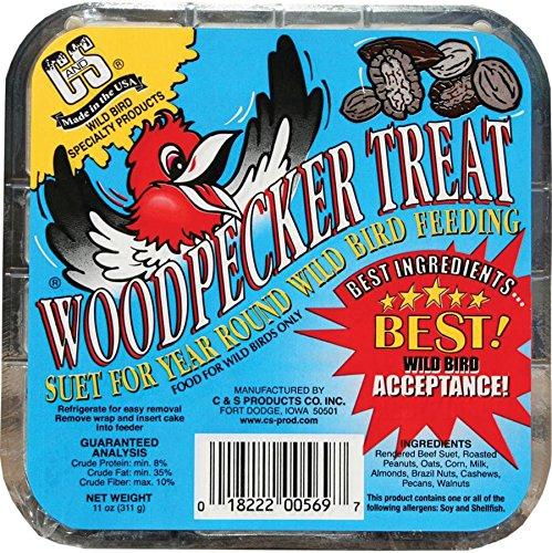 C&S Woodpecker Treat Suet - 11 oz. (11 Ounce Almond Treat)