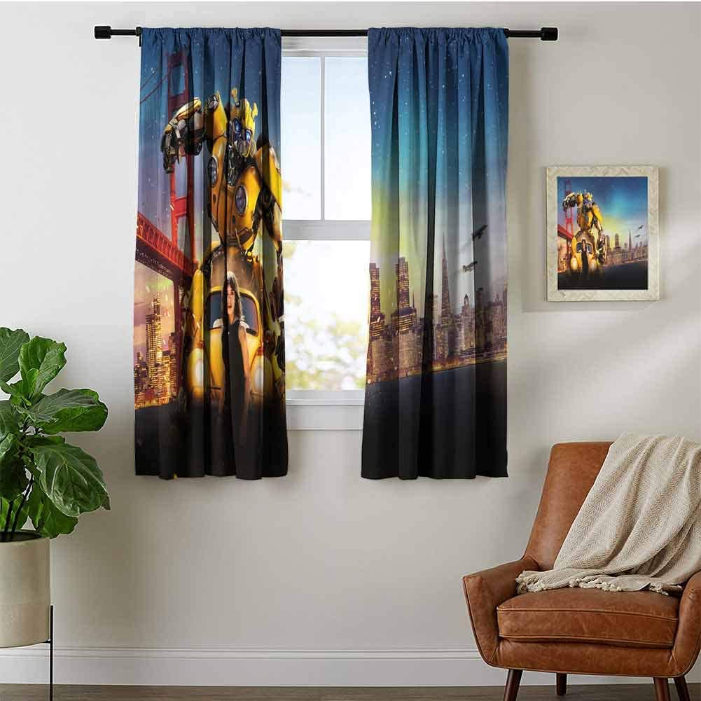 ZhiHdecor Block Max 70% OFF Light Max 67% OFF Curtain Bumblebee for Drapes Bedroo Window