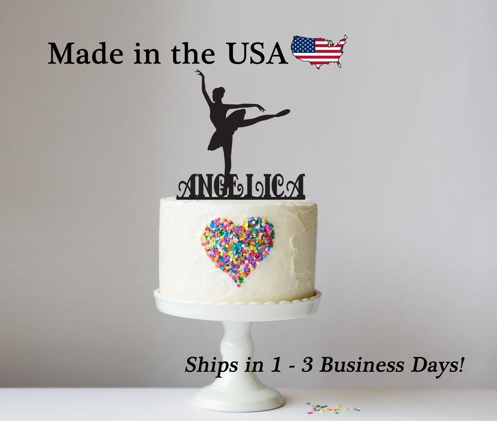 Female Ballerina Cake Topper with FREE Keepsake Base, Girl Dancer, Personalized Cake Topper, Ballerina Decor, Birthday Girl, Party Favors, Dance Team Décor