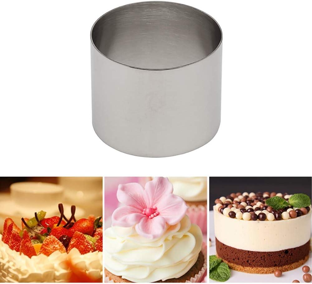 5PCS//Set Different Sizes Stainless Steel Mini Cake Ring Molder DIY Baking Tool