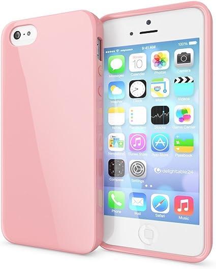 NALIA Custodia compatibile con iPhone SE 5 5S, Cover Protezione Ultra-Slim Phone Case Protettiva Morbido Cellulare in Silicone Gel, Gomma Jelly ...