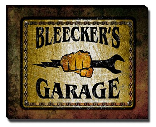 Bleecker's Garage Stretched Canvas (Bleecker Canvas)