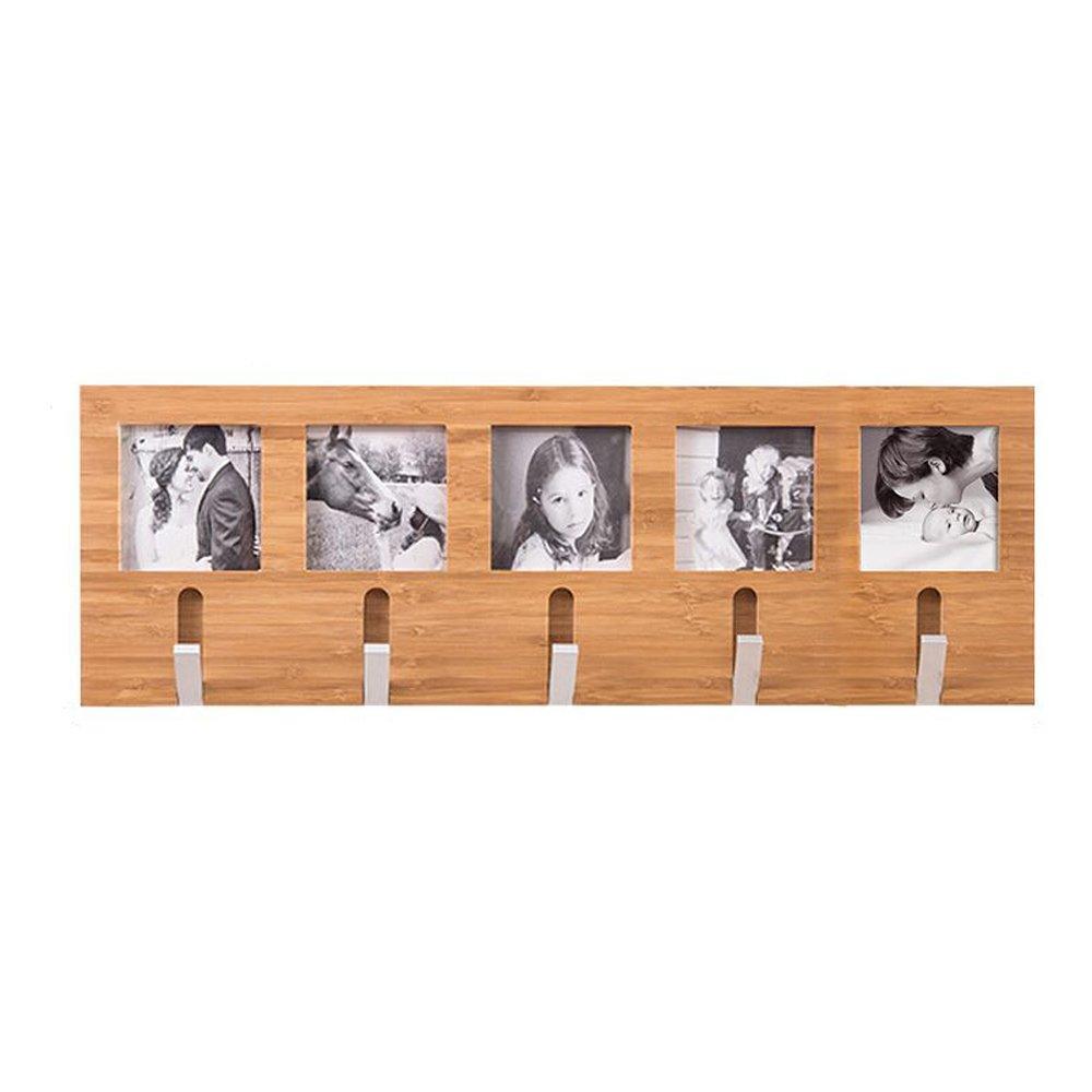 ソリッドウッドコートラック壁掛けラックアロイフックハンガーポーチベッドルームリビングルームウォールコートフック ( サイズ さいず : M ) Medium  B0795RYCD7