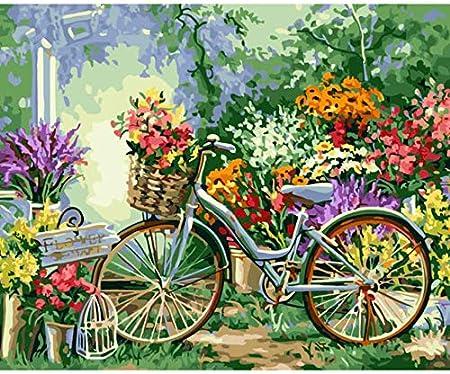 Puzzle 1000 Piezas Kits De Flores De Bicicleta De Bricolaje Para ...
