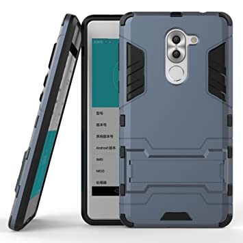 DWaybox Huawei Mate 9 Lite Hybrid Funda 2 in 1 Heavy Duty Armor Hard Back Carcasa Funda con Kickstand for Huawei Mate 9 Lite Premium Edition/Honor 6X ...