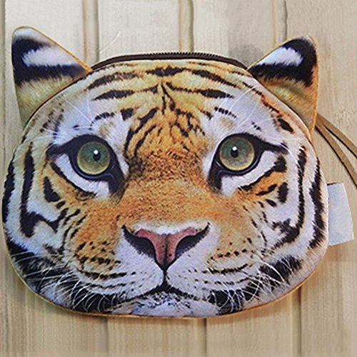 Available A Realistic Style Small Animal 3 Per Soft tiger Face Purse Ployester Coin vwqxdPf1