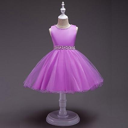 GHTWJJ Vestidos De Noche para Niñas Vestido De Princesa para Boda Vestido De Novia Vestido para