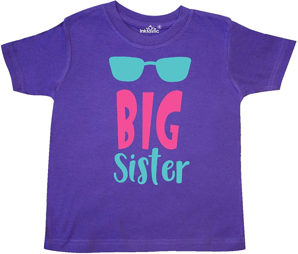 Sunglasses inktastic Big Sister Older Sister Blue Pink Toddler T-Shirt