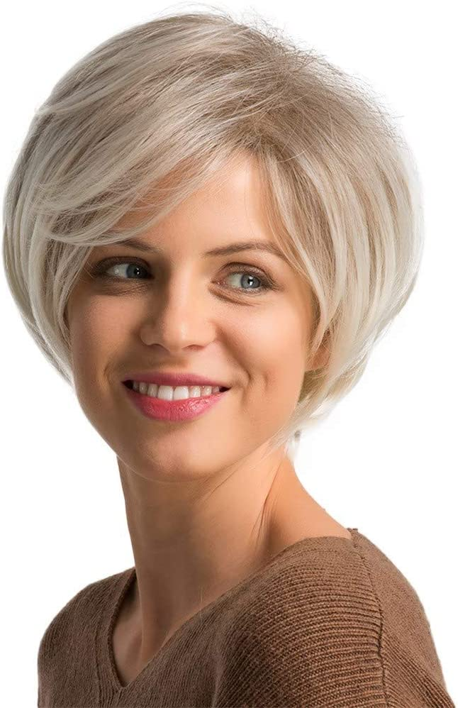 Jinlile 28cm Short Natural Sexy Women S Short Wavy Curly Synthetic Wigs Parting Grey Hair Wigs Festival Cosplay Fashion Cheap Grey Amazon Co Uk Beauty