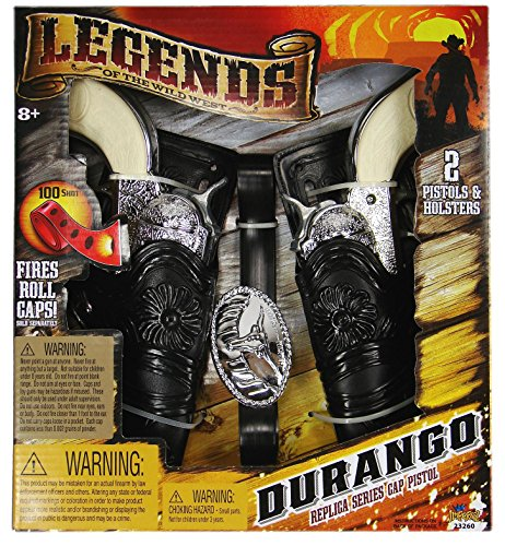 Legends of the Wild West Durango Replica Series Cap Pistols & Double Holster Set (Pistol Double Set)
