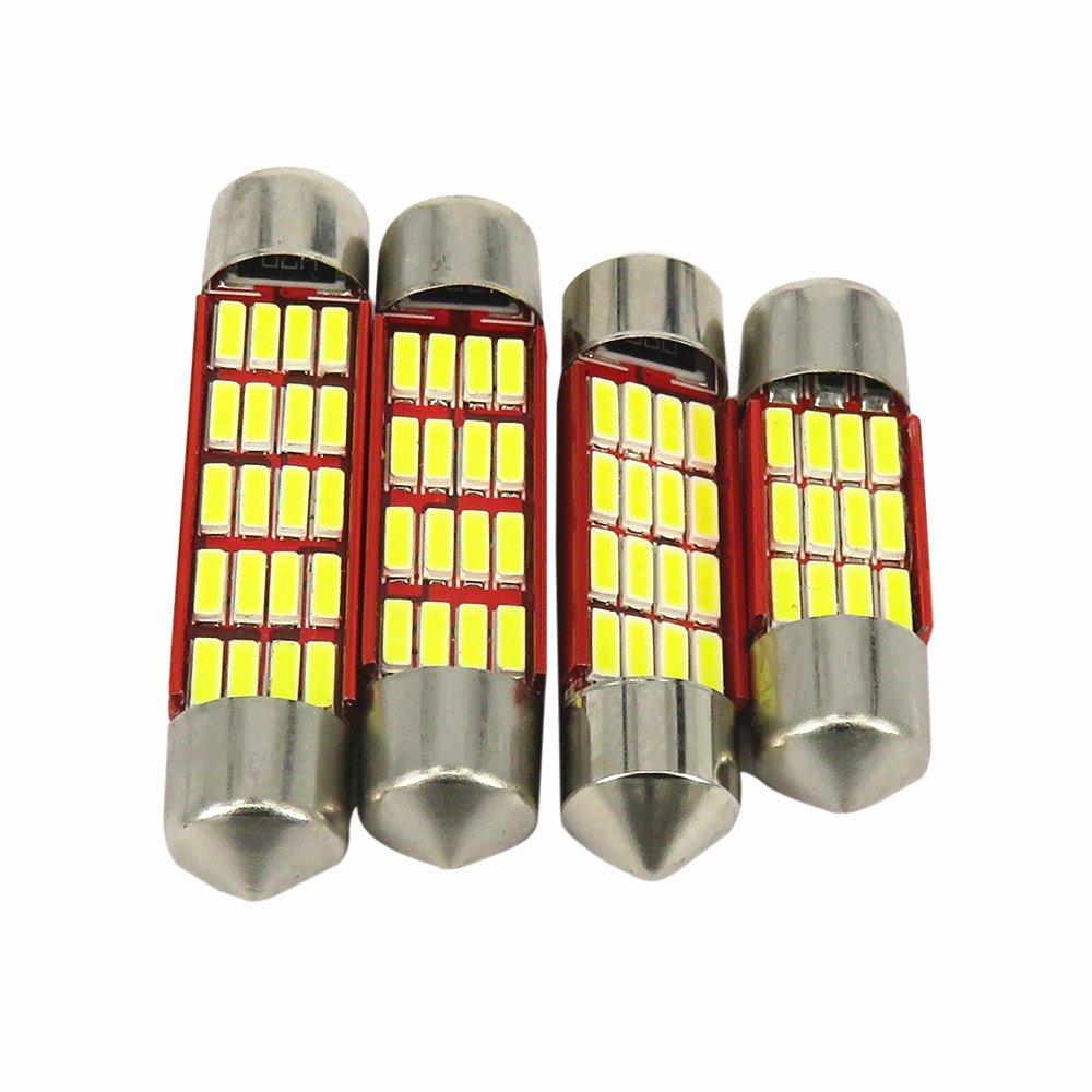 paquet de 2 WLJH LED 41mmm extr/êmement lumineux de allume 450 Lumens 4014SMD DE4410 211 212-2 Canbus sans erreur pour des lumi/ères de plaque dimmatriculation int/érieures de voiture