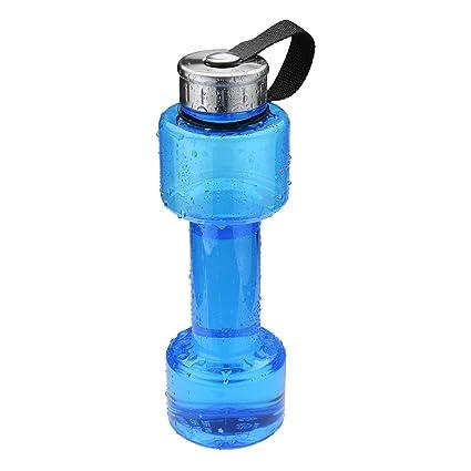 Kenthia - Botella de Agua con Forma de mancuerna, 750 ML, Azul