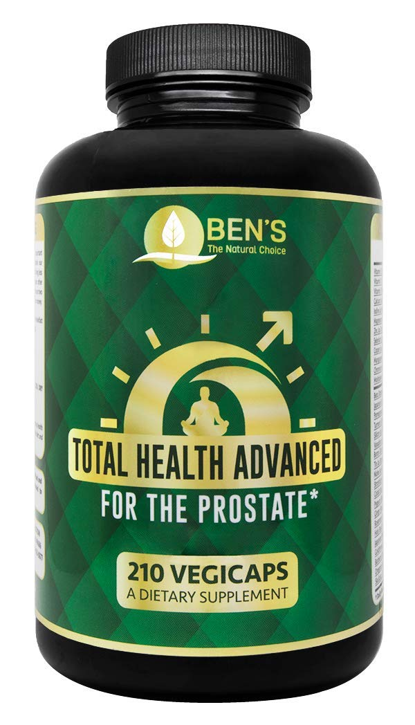 Ben's Advanced Total Health for The Prostate - Shrinks Prostate Gland - Fights BPH & Prostate Disease - Reduce Frequent Urination (1 Bottle)