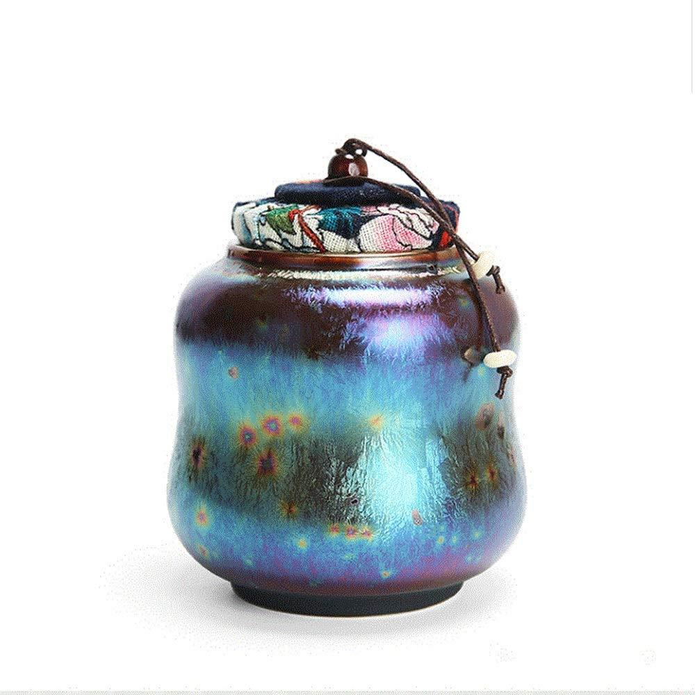 LiRongping Mini cremation urn ceramical smalto, cane gatto cremazione e bara commemorativa