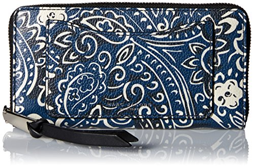 Size One Marc Multi Rail Recruit Jacobs Continental Paisley Blue Wallet vzrwz8xpH6