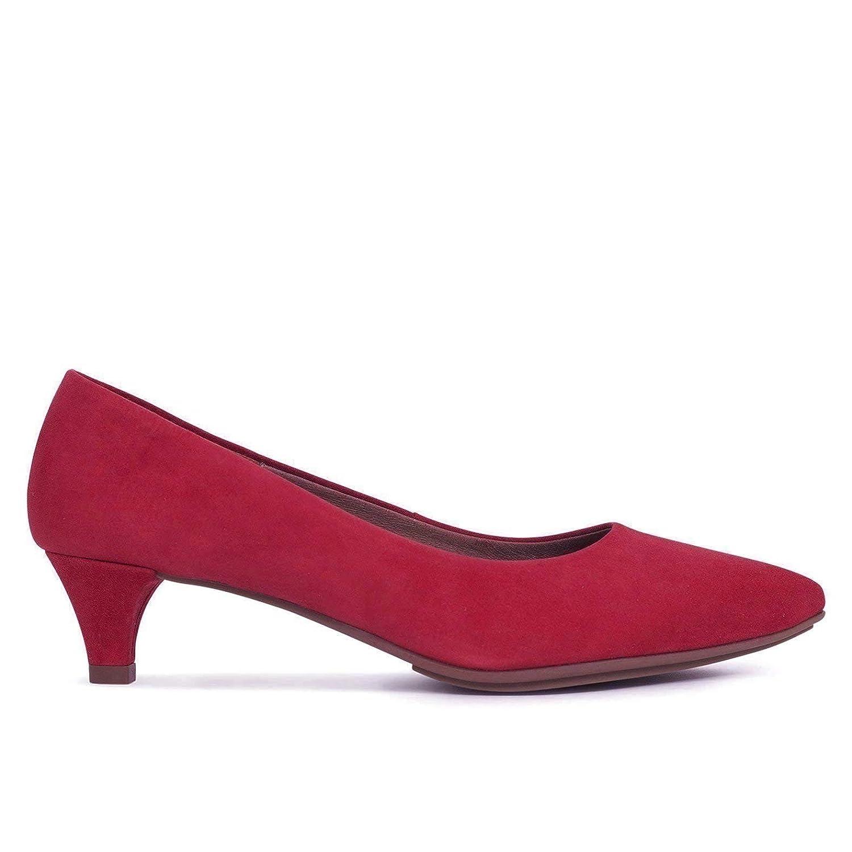 Zapatos Salón. Zapatos Piel Mujer Hechos EN ESPAÑA. Zapatos Tacón Rojo. Zapato Mimao. Zapatos Mujer Tacón. Zapatos Mujer Fiesta y Baile Latino. Zapato Cómodo Mujer con Plantilla Confort Gel