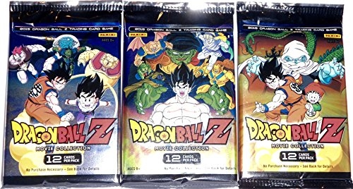 3 Packs Dragon Ball Z Movie Collection 2015 Trading Card Game Booster Packs bundle [12 cards per pack] (Dragon Ball Z Movie Pack 3)