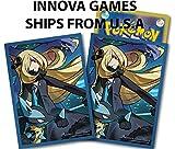 Pokemon Center Card Sleeves - Cynthia Garchomp Lucario - 64ct Pack
