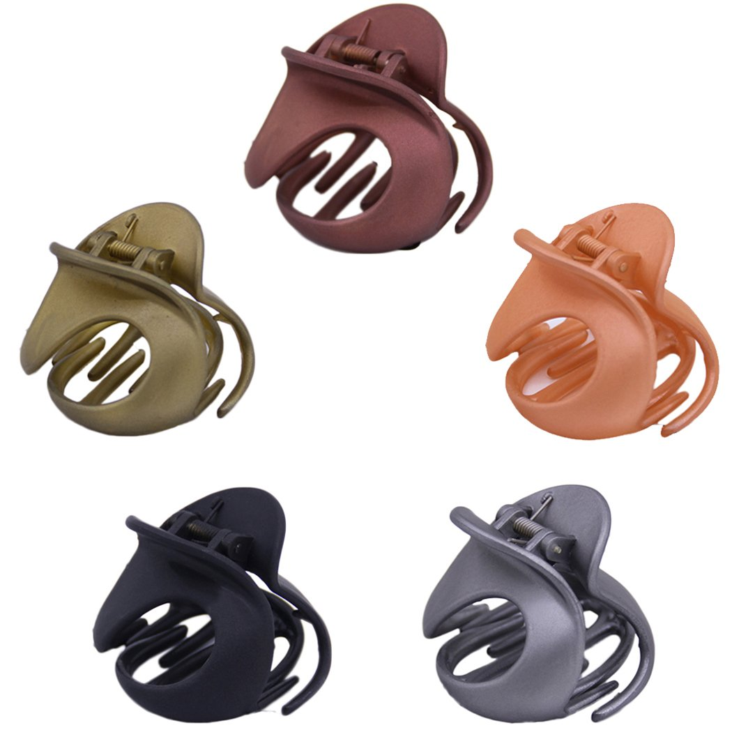 Aniwon 5Pcs Women's Jaw Clips Vintage Simple Irregular Non-Slip Claw Clips Hair Clamps Hair Accessories for Women and Girls 5V4X8P39RS4301410CNJT
