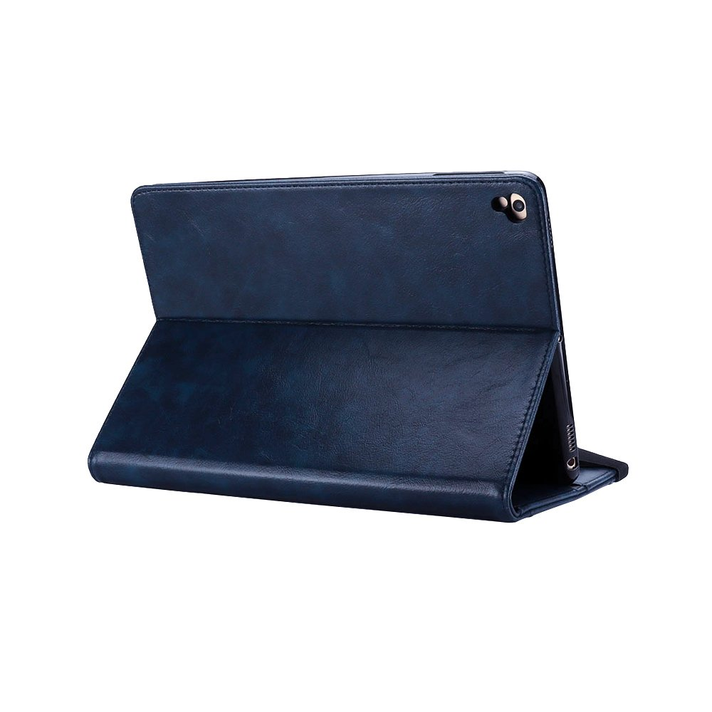 Jennyfly Galaxy Tab S3 9.7 Case, PU Leather Hands-Free Stand Smart Auto Wake/Sleep Function Built-in Pencil Slot & Card Slots Protective Business Cover for Galaxy Tab S3 9.7(SM-T820/SM-T825) - Blue by Jennyfly (Image #5)