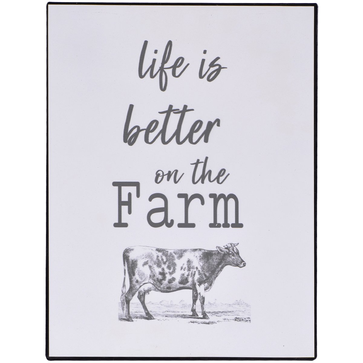 NIKKY HOME Farmhouse Plaque de Fer avec Inspiration Qoute