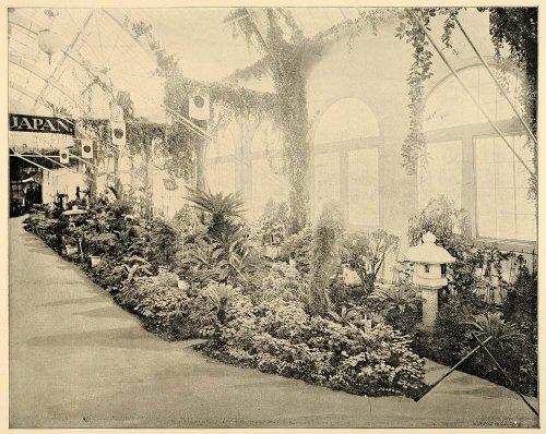 1893 Chicago World's Fair Japanese Garden Japan Print - Original Halftone Print - Fair Isle Garden