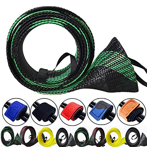 Spinning Sea Fishing - ZHENDUO OUTDOOR 8pcs/Set Rod Sock Fishing Rod Sleeve Rod Cover Protector with 5pcs Rod Straps Belts Ties Fishing Gear Tools Accessories for Spinning Casting Sea Fishing Rod
