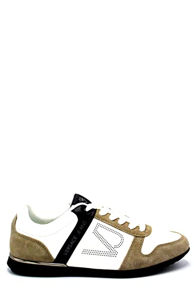 Versace Jeans Sneakers Fini Cuir Tendance Yrbsb7  Amazon.fr ... 013101d6b3d
