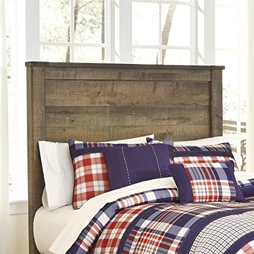 Signature Design by Ashley B446-87 Trinell Rustic Panel Headboard, Full - Ashley Furniture Bed