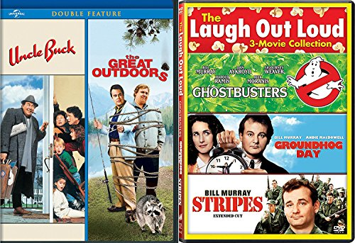 Stripes Bill Murray + Uncle Buck John Candy / Great Outdoors Comedy Feature Groundhog Day / Ghostbusters triple films (Academy Hog)