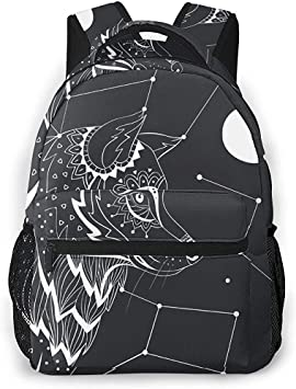 Mochilas,Black Wolf Constellation Moon School Mochilas ...