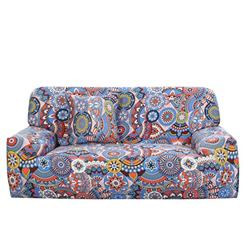 uxcell Stretch Sofa Couch Cover 4 Seater Polyester Spandex F