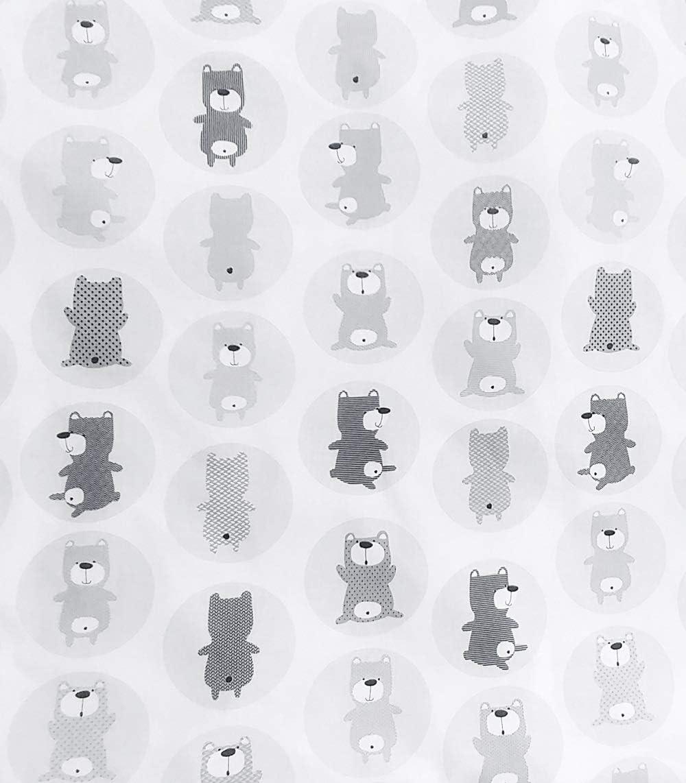 Vizaro HOUSSE C DRAP AJUSTABLE pour MATELAS /À LANGER B/ÉB/É 50x70 cm Fabriqu/é UE pas de substances nocives Broderie Blanche 100/% COTON
