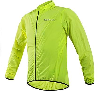 logas Veste Velo Homme Maillot Cyclisme Manche Longue Vert Anti-UV V/êtement Imperm/éable