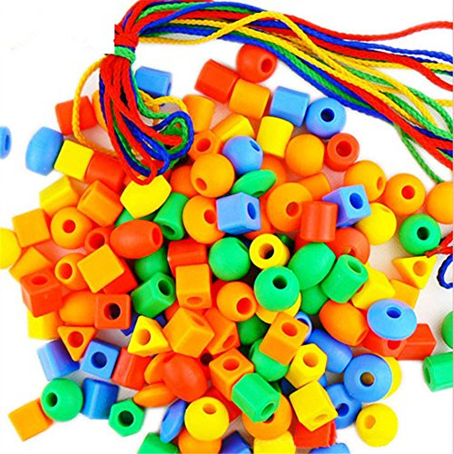 GZQ Fun Toys Lacing & Stringing Beads Toys Educational Stringing Toy for Preschool Children