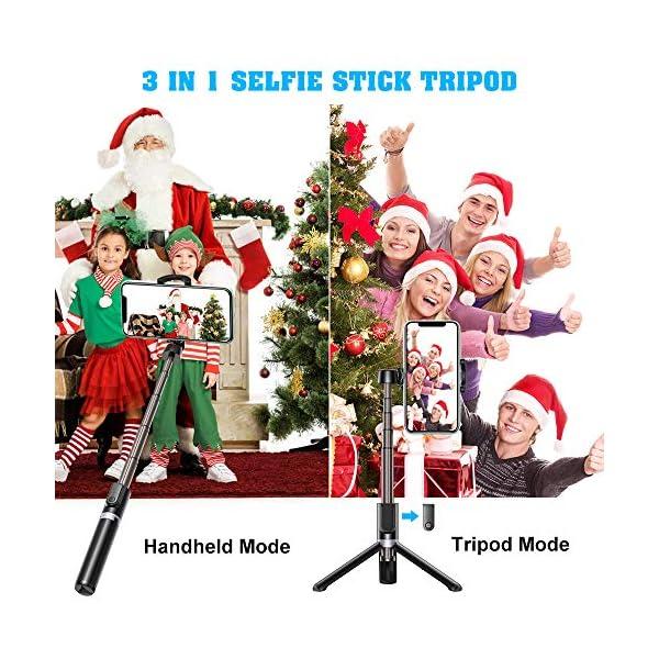Bovon Bastone Selfie, Mini Estensibile 3 in 1 Selfie Stick Treppiede Smartphone con Telecomando Wireless Compatibile con… 2 spesavip