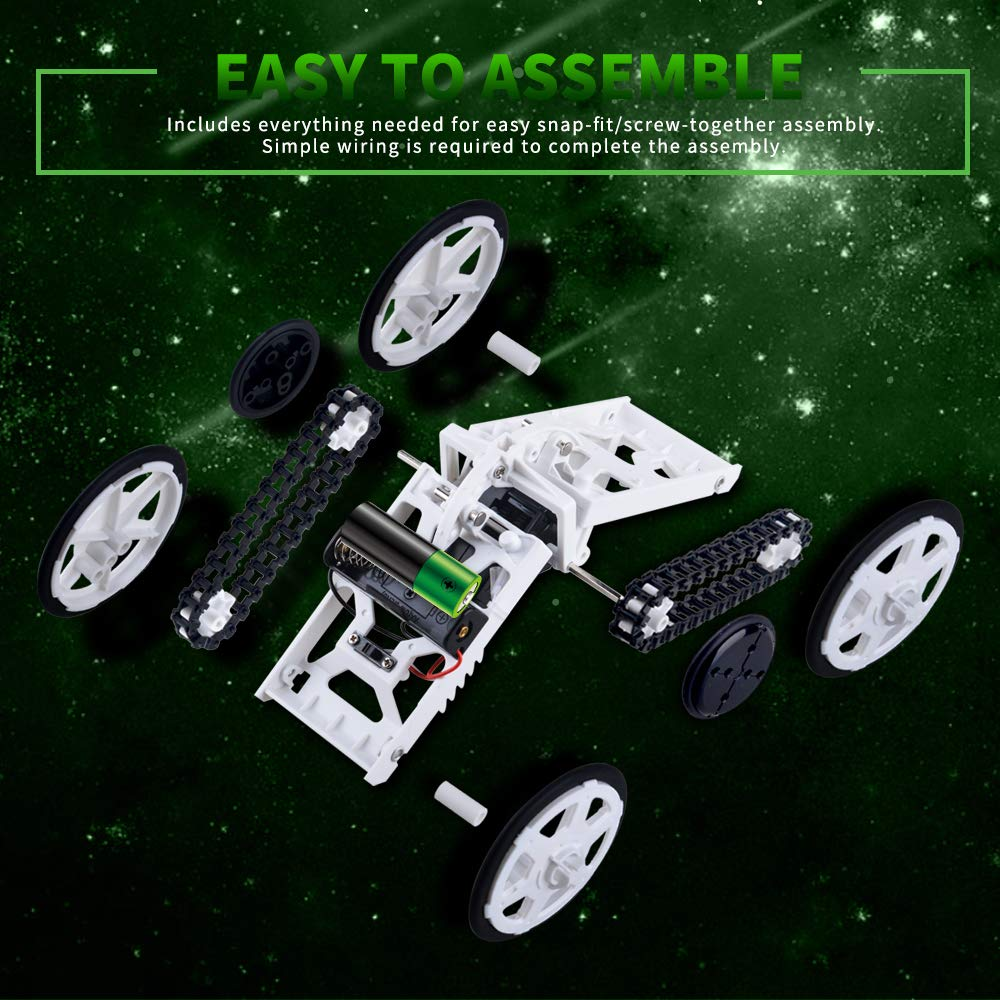 KIMMI 4WD Car Assembly DIY Science Experiments for Kids Best Gift