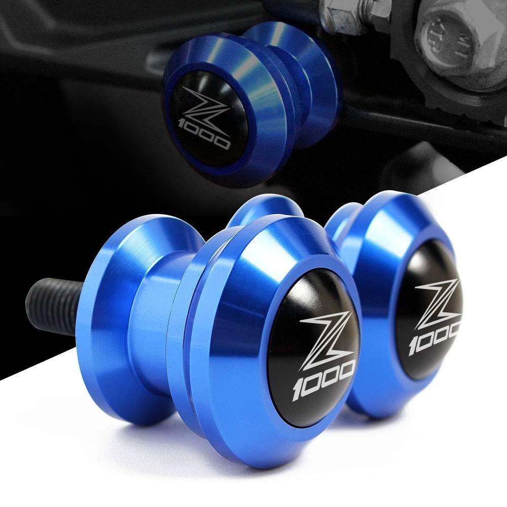 8mm Coppia di nottolini M8 alza moto supporti per forcellone posteriore delle moto per Kawasaki Z1000 2015-2018