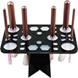 LEOKOR Makeup Brush Tree Holder Organizer Cosmetic Brush Dryer Air Drying Tower with 28 Mix Hole